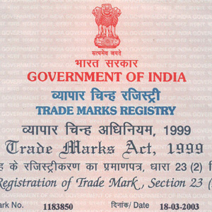 Registered Trade Mark Certificate